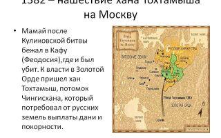 Поход хана тохтамыша на русь и куликовская битва