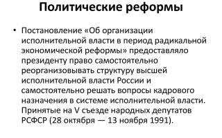 Политические реформы 90-х гг. 20 в. в россии