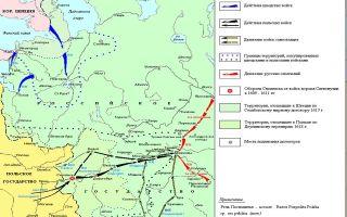 Карта: российское государство в начале xvii века. смутное время