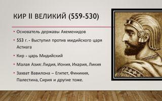 Царь персии кир ii и создание империи ахеменидов