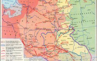 Карта: освободительная война на украине и в белоруссии 1648-1654 гг