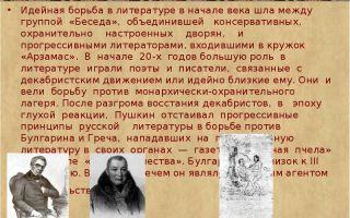 Идейная борьба в русской литературе начала xix века