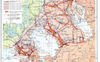 Наступление советских войск в южной карелии. выход их на границу с финляндией