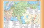 Карта: российская империя в первой половине xviii века