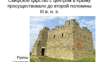 Скифское царство в крыму