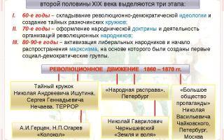 Развитие радикального движения в россии xix века
