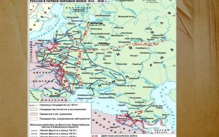 Карта: россия в первой мировой войне 1914-1918 гг