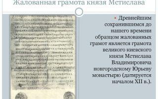 Система жалованных грамот великого московского князя