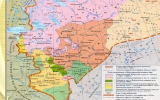 Карта: русское государство при иване iii и василии iii