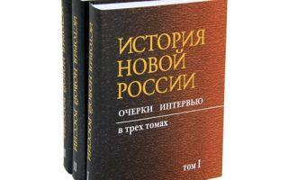 История новой россии