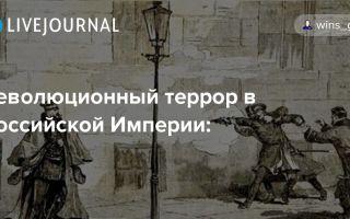 Революционно-террористические организации в россии