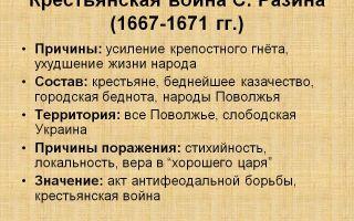 Социальные бунты середины 17 в. крестьянская война 1667 — 1671 гг.
