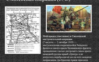 Смоленская наступательная операция 1943 г. (7 августа -2 октября)