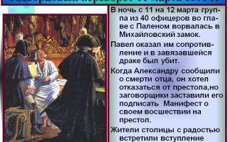 Павел i и последний дворцовый переворот