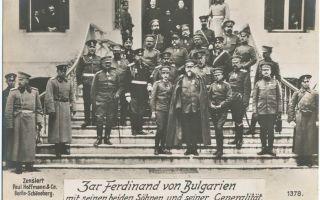 Болгария в первой мировой войне – нейинский мир
